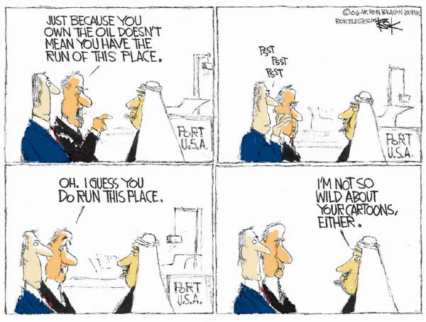 Cartoonist Chip Bok  Chip Bok's Editorial Cartoons 2006-02-22 economic supply