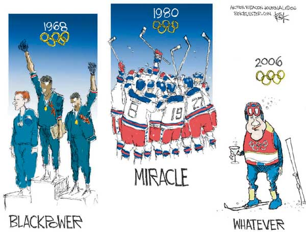 Chip Bok  Chip Bok's Editorial Cartoons 2006-02-28 2006 Olympics