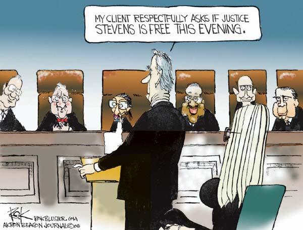 Cartoonist Chip Bok  Chip Bok's Editorial Cartoons 2006-03-02 court