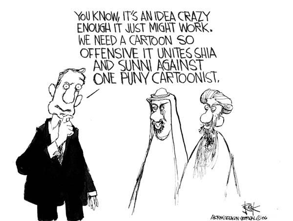 Chip Bok  Chip Bok's Editorial Cartoons 2006-03-06 Shiite