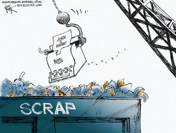 Cartoonist Chip Bok  Chip Bok's Editorial Cartoons 2006-03-15 heritage
