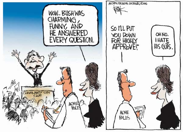 Cartoonist Chip Bok  Chip Bok's Editorial Cartoons 2006-03-23 answer