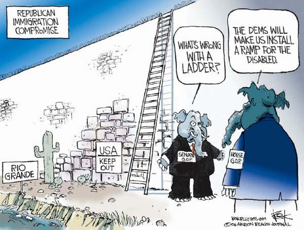 Cartoonist Chip Bok  Chip Bok's Editorial Cartoons 2006-04-03 republican