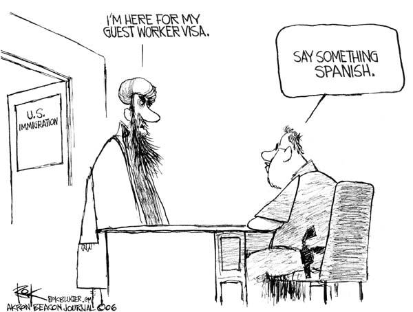 Cartoonist Chip Bok  Chip Bok's Editorial Cartoons 2006-04-04 terror