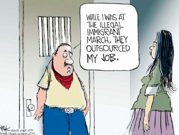 Chip Bok  Chip Bok's Editorial Cartoons 2006-05-02 immigration