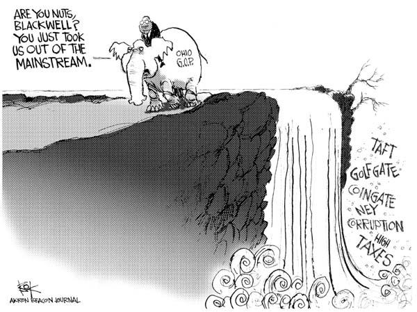 Cartoonist Chip Bok  Chip Bok's Editorial Cartoons 2006-05-09 corruption