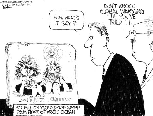 Cartoonist Chip Bok  Chip Bok's Editorial Cartoons 2006-06-06 global warming