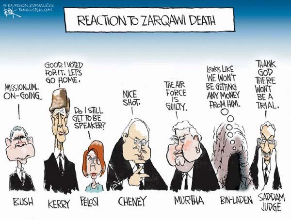 Cartoonist Chip Bok  Chip Bok's Editorial Cartoons 2006-06-09 reaction