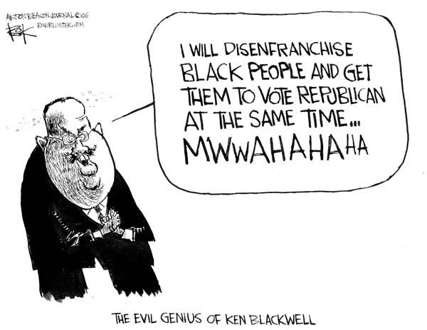 Cartoonist Chip Bok  Chip Bok's Editorial Cartoons 2006-06-19 republican