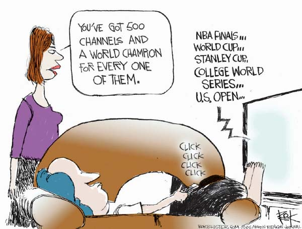 Cartoonist Chip Bok  Chip Bok's Editorial Cartoons 2006-06-20 college sports