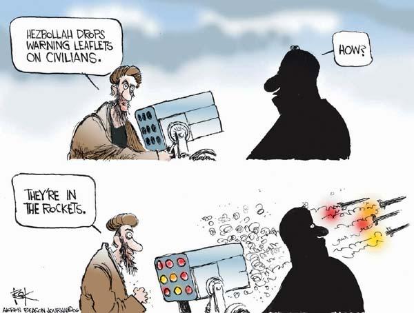 Cartoonist Chip Bok  Chip Bok's Editorial Cartoons 2006-07-26 attack
