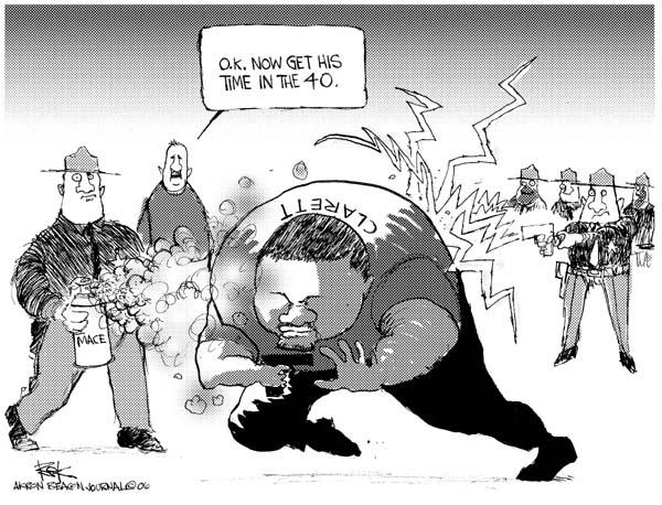 Cartoonist Chip Bok  Chip Bok's Editorial Cartoons 2006-08-10 distance