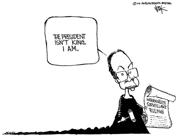 Chip Bok  Chip Bok's Editorial Cartoons 2006-08-21 separation of powers