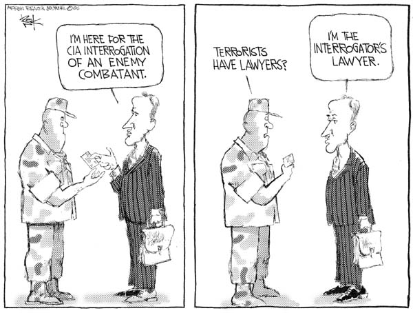 Chip Bok  Chip Bok's Editorial Cartoons 2006-09-18 due process