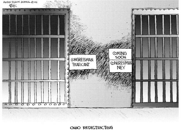 Cartoonist Chip Bok  Chip Bok's Editorial Cartoons 2006-09-25 district