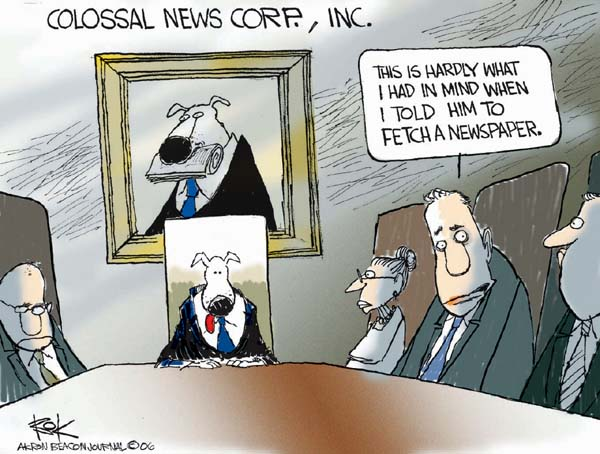 Colossal News Corp., Inc.  This is hardly what I had in mind when I told him to fetch a newspaper.