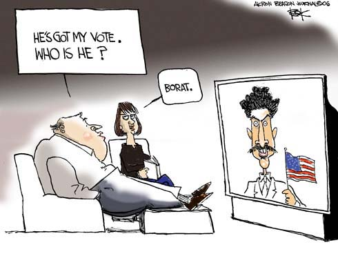 Cartoonist Chip Bok  Chip Bok's Editorial Cartoons 2006-11-06 midterm election