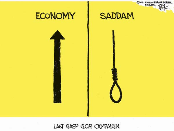 Cartoonist Chip Bok  Chip Bok's Editorial Cartoons 2006-11-07 republican