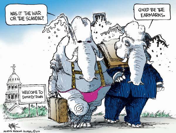 Cartoonist Chip Bok  Chip Bok's Editorial Cartoons 2006-11-10 corruption