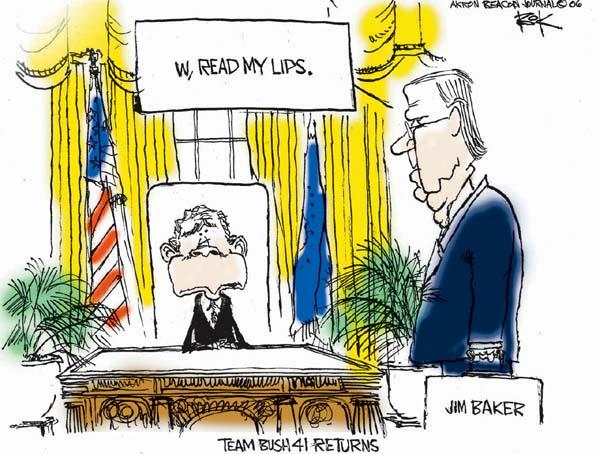 Cartoonist Chip Bok  Chip Bok's Editorial Cartoons 2006-11-14 Baker-Hamilton