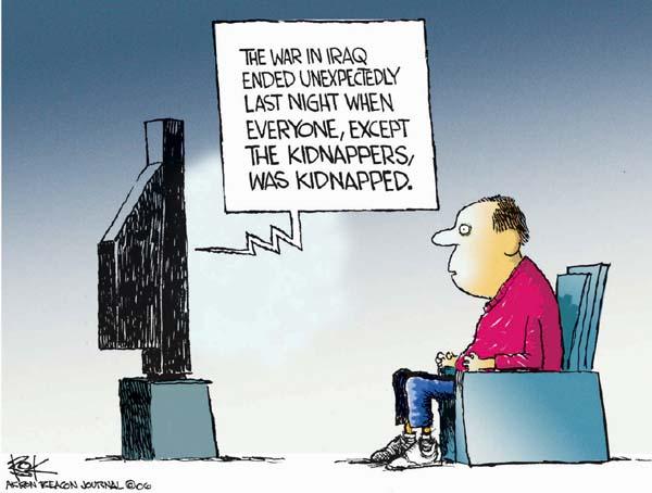 Cartoonist Chip Bok  Chip Bok's Editorial Cartoons 2006-11-17 Iraq sectarian violence