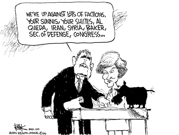 Cartoonist Chip Bok  Chip Bok's Editorial Cartoons 2006-12-12 Secretary of Defense