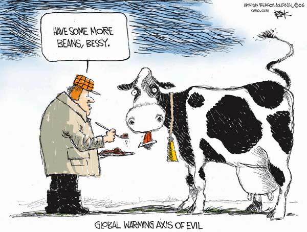 Cartoonist Chip Bok  Chip Bok's Editorial Cartoons 2006-12-14 cow