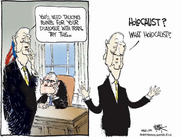 Cartoonist Chip Bok  Chip Bok's Editorial Cartoons 2006-12-15 denier