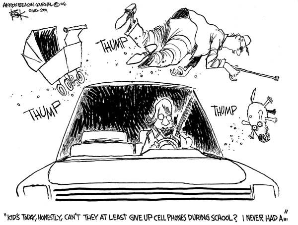 Cartoonist Chip Bok  Chip Bok's Editorial Cartoons 2006-12-18 school safety