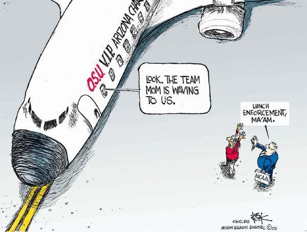 Cartoonist Chip Bok  Chip Bok's Editorial Cartoons 2007-01-05 lunch