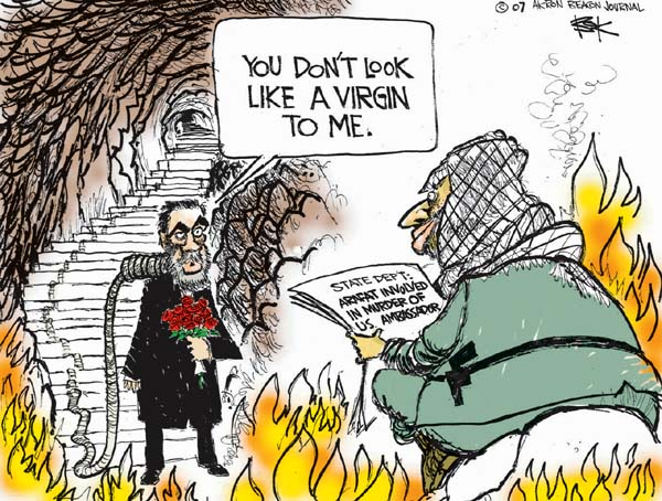 Cartoonist Chip Bok  Chip Bok's Editorial Cartoons 2007-01-08 Saddam Hussein