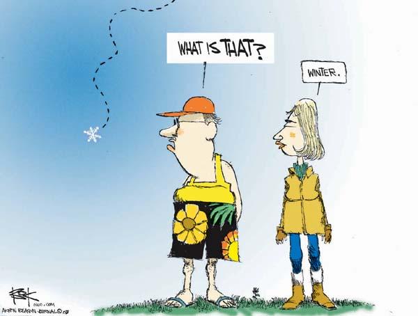 Cartoonist Chip Bok  Chip Bok's Editorial Cartoons 2007-01-09 weather