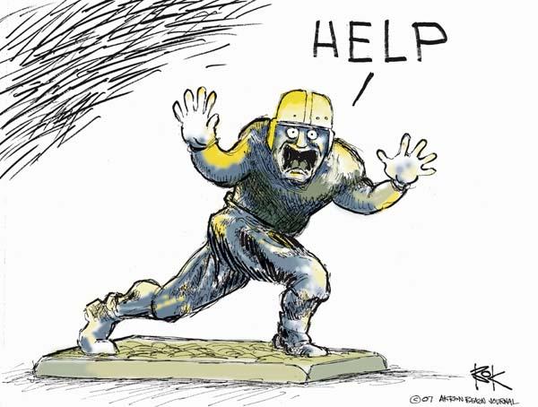 Cartoonist Chip Bok  Chip Bok's Editorial Cartoons 2007-01-10 reaction