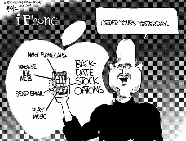 Cartoonist Chip Bok  Chip Bok's Editorial Cartoons 2007-01-11 apple