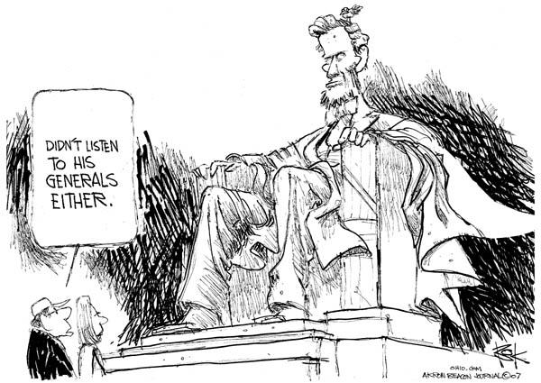 Chip Bok  Chip Bok's Editorial Cartoons 2007-01-12 Abraham Lincoln