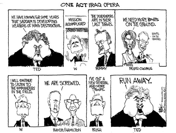 Cartoonist Chip Bok  Chip Bok's Editorial Cartoons 2007-01-15 Secretary of Defense