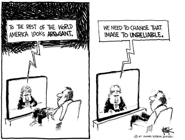 Chip Bok  Chip Bok's Editorial Cartoons 2007-01-25 diplomacy
