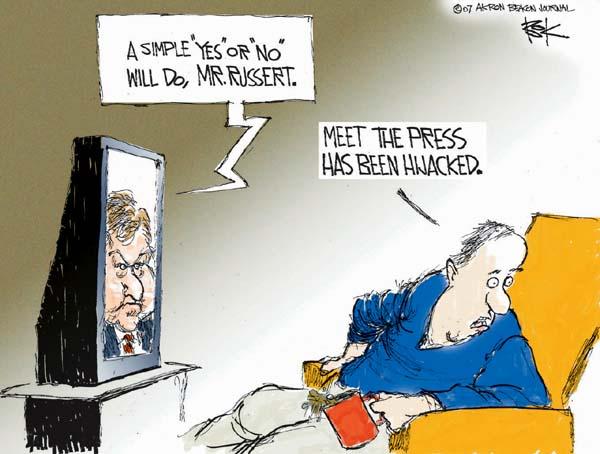 Cartoonist Chip Bok  Chip Bok's Editorial Cartoons 2007-02-12 bias