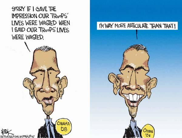 Cartoonist Chip Bok  Chip Bok's Editorial Cartoons 2007-02-15 vocabulary