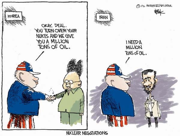 Cartoonist Chip Bok  Chip Bok's Editorial Cartoons 2007-02-20 nuclear energy
