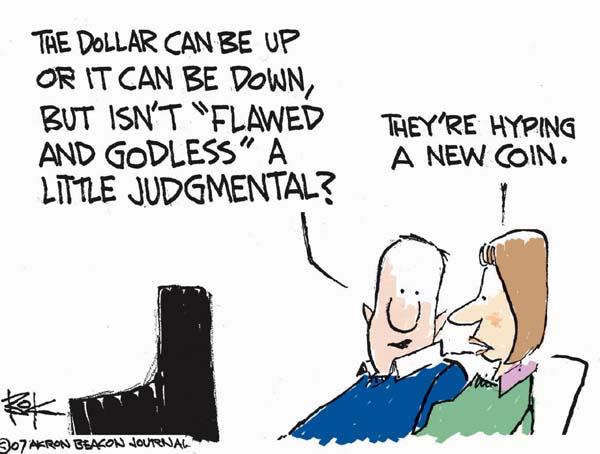 Cartoonist Chip Bok  Chip Bok's Editorial Cartoons 2007-03-09 money