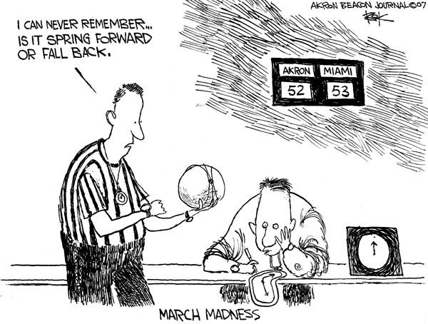Cartoonist Chip Bok  Chip Bok's Editorial Cartoons 2007-03-13 clock