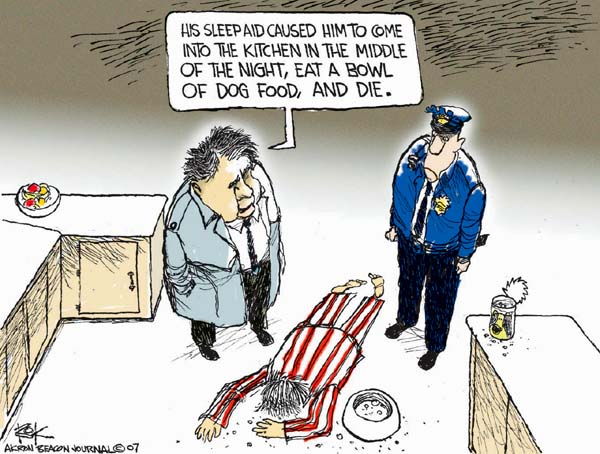 Cartoonist Chip Bok  Chip Bok's Editorial Cartoons 2007-03-27 food
