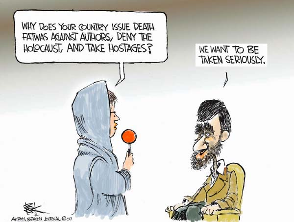 Chip Bok  Chip Bok's Editorial Cartoons 2007-04-03 Mahmoud Ahmadinejad