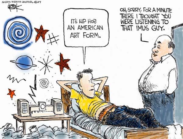 Cartoonist Chip Bok  Chip Bok's Editorial Cartoons 2007-04-12 art