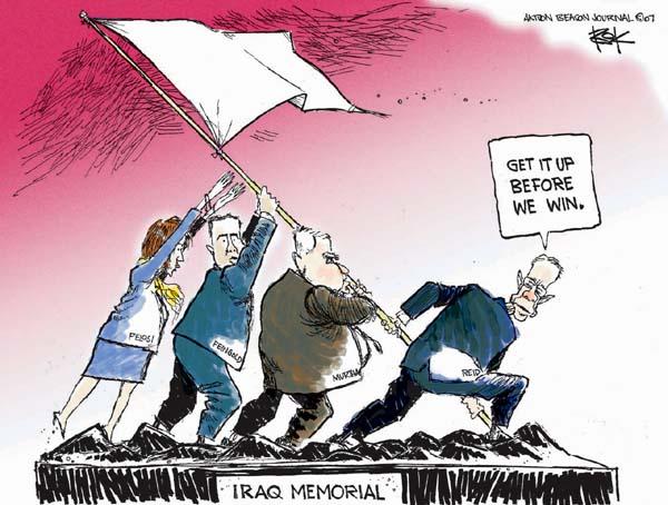 Cartoonist Chip Bok  Chip Bok's Editorial Cartoons 2007-04-16 memorial