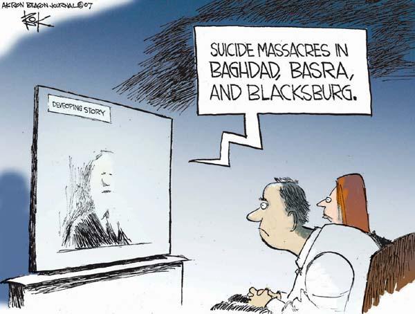 Cartoonist Chip Bok  Chip Bok's Editorial Cartoons 2007-04-18 attack