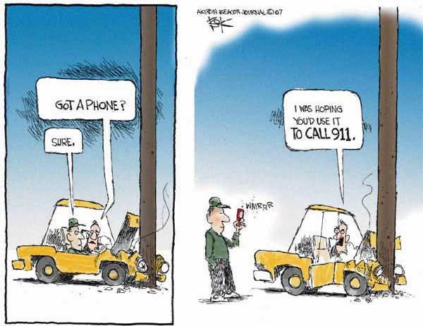Cartoonist Chip Bok  Chip Bok's Editorial Cartoons 2007-04-20 automobile safety