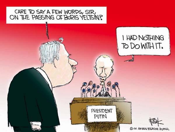 Cartoonist Chip Bok  Chip Bok's Editorial Cartoons 2007-04-24 Russian President