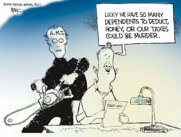 Chip Bok  Chip Bok's Editorial Cartoons 2007-04-26 tax deduction